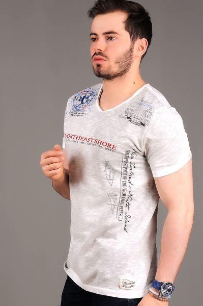Erkek Tisort North Baskili Krem T Shirt Elbise Muhafazakar Armine Bayan Alisveris Kap 2018 Giyim Firsat Butik Etnik Ba Erkek Tisort Tisort Giyim