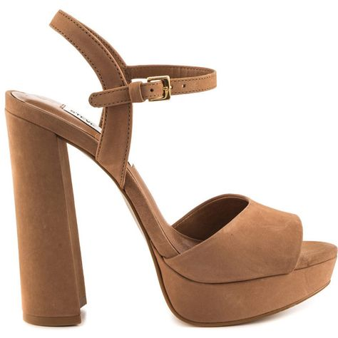 a225b0e33cc0 Steve Madden Women s Kierra - Camel Nubuck ( 100) ❤ liked on Polyvore  featuring shoes