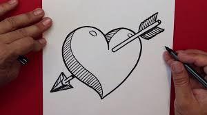 Resultado De Imagen Para Graffitis De Corazones Flechados A Lapiz Corazones Para Dibujar Dibujos A Lapiz Faciles Dibujos De Corazones
