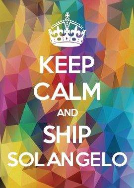 Keep Calm And Ship Solangelo Acampamento Meio Sangue Herois Do