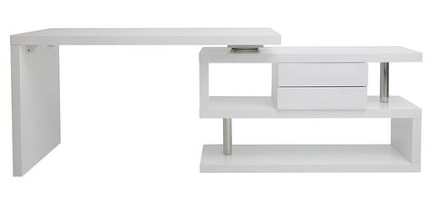 Bureau Design Modulable Max Blanc Laque Pas Cher Bureau Miliboo Bureau Design Salle A Manger Design Miliboo