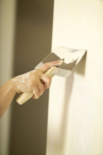 How To Fill In The Cracks Of Paneling Before Painting Plaster Repair Drywall Painting Over Paneling