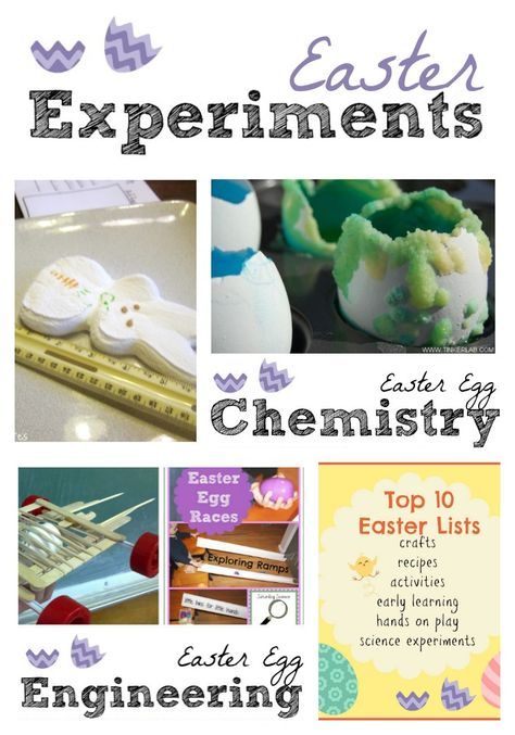 Top 10 Easter Experiments for Kids-  These can be done anytime but are especially fun this time of year!
