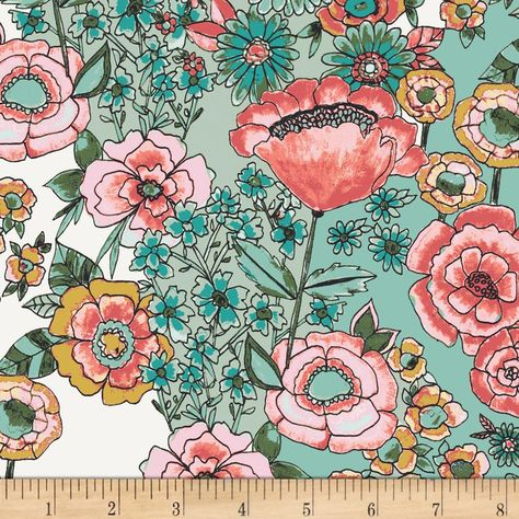 Bari J. - Wild Bloom - Flower Shower Subtle - Art Gallery Fabrics - 1 Yard Premium Cotton wide If you need a larger quantity, send a convo and inquire before ordering as there may be more available.