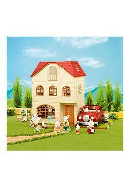 CALICO CRITTERS CC1796 Red Roof Country Home Gift Set New Factory Sealed