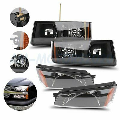 Details About Fits 02 06 Chevy Avalanche Replacement Black Headlights Clear Lens Left Right In 2020 Chevy Avalanche Replacement Headlights Chevy