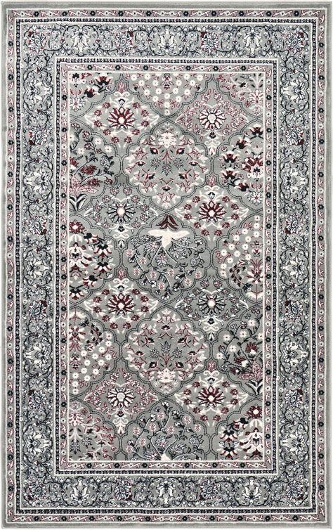 Gray 5' x 8' Bakhtiar Rug | Area Rugs | iRugs UK