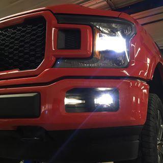 Morimoto XB LED fog lights for the 2018 Ford F-150 installed