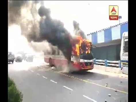 Bus Accident Unrest In Chingrighata Youtube