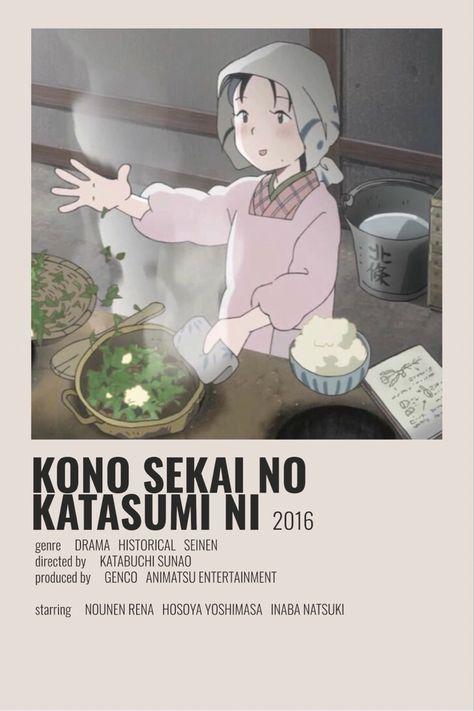 Kono sekai no katasumi ni minimalist poster