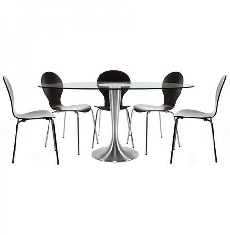 Design Tafel Stoelen.Ovalen Tafel Krystal Uit Doorzichtig Gehard Glas 160x108 Cm