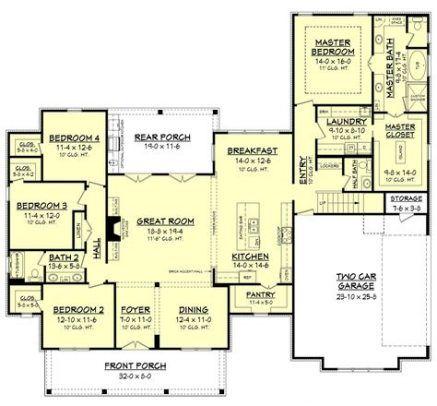 28 Ideas House Plans 4 Bedroom Farmhouse Bath Farmhouse Style House Plans Ranch House Floor Plans Home Design Floor Plans