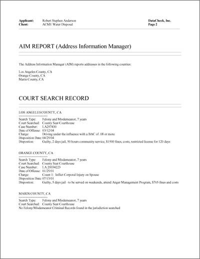 Sample Employee Background Check Report Datacheck Employment Background Check Background Check Background Check Form