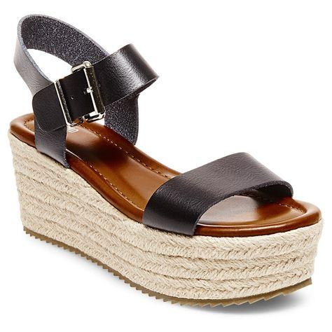 899a16fc35bc Women s Nonie Metallic Flatform Espadrille Sandals Mossimo Supply Co. -  Black