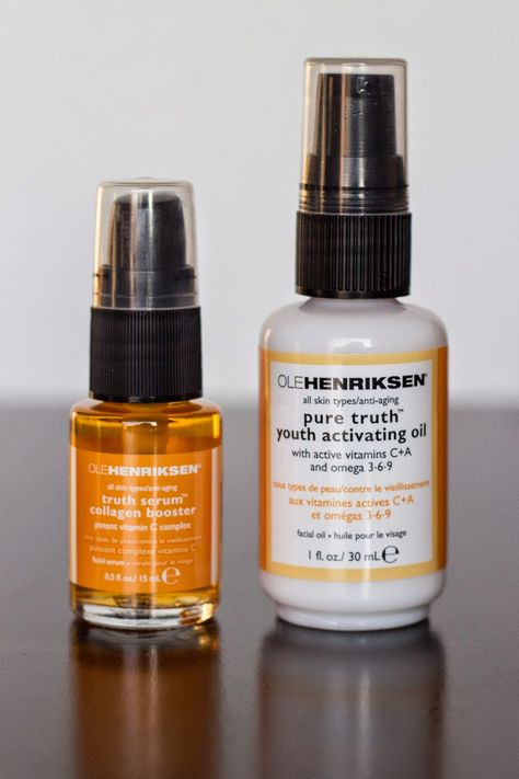 Little Blushing Birdie: Ole Henriksen Truth Serum & Pure Truth Youth Activating Oil Reviews #skincare