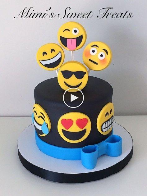 32 Photos Exclusives De Gateaux D Anniversaire Emoji Pastalar