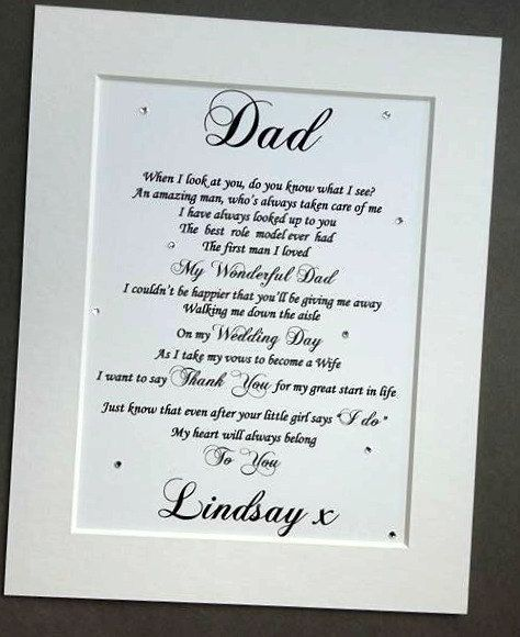 Father Of The Bride Gift From His Daughter Https Www Etsy Com Uk Listing 462109968 Father Of The Br Daughter Wedding Gifts Letter To Dad Father Of The Bride