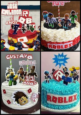 Roblox Free Printable Cake Toppers With Images Roblox