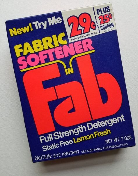 Vintage Fab Laundry Detergent Sample Size Soap Box New Old Stock