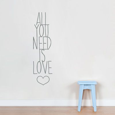 Wallums Wall Decor All You Need Is Love Wall Decal Love Wall