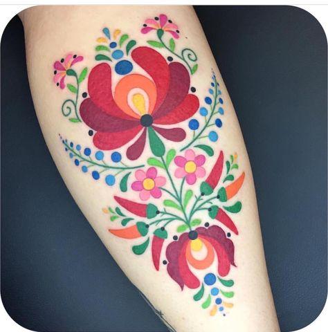 Not Copying But Beautifully Done German Folk Art Wzory Tatuazy