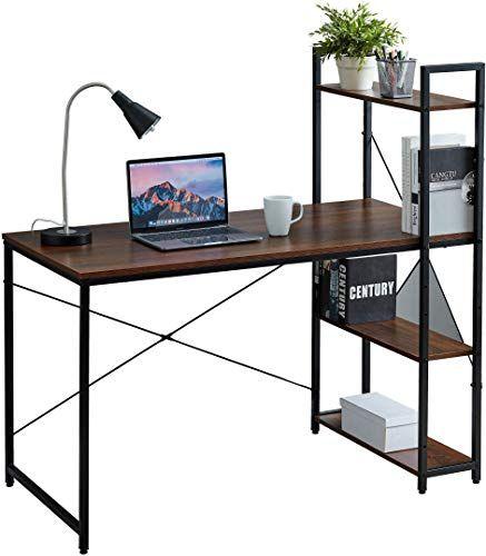 Buy Halter Desk 3 Tier On Top Below Desk Shelving Home Office Computer Desk Metal Wood Industrial Style 3 Shelf Modern Desk Shelving Online Aristat In