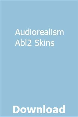 Audiorealism Abl2 Skins With Images Study Guide Exam Study Manual