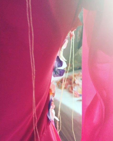 ............#diyhautecouture #sewing #design #hautecouture #fashion #flowers #handpainted #fabricflowers #blog #beingcreative #chiffondress #dress #chiffon #cotton #handsewn #sheerdress #multicolor #sequins #giardini #new #lovinghautecouture #newblogger # me