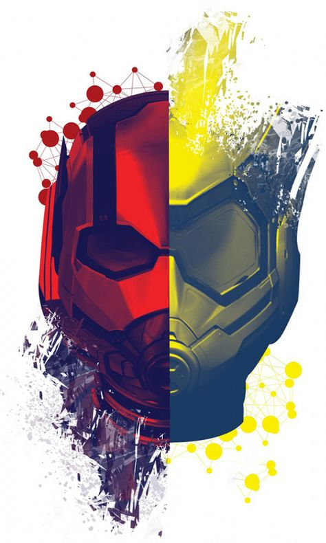 Ant-Man and the Wasp, movie, helmets, face-off, poster, 480x800 wallpaper