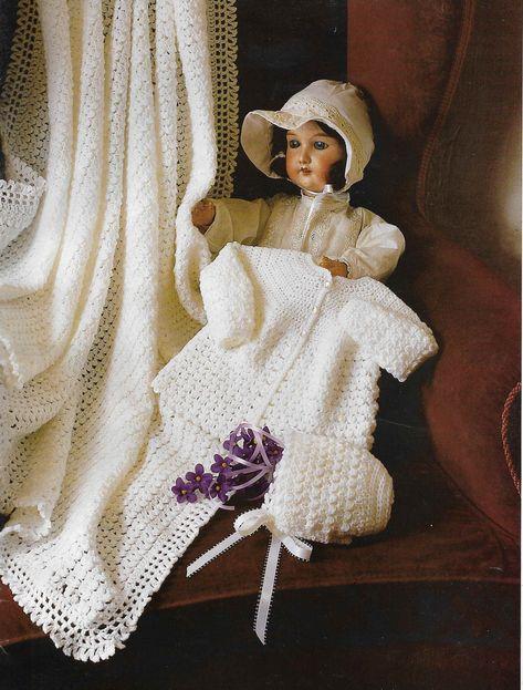 0ab476598baa Baby CROCHET PATTERN 3 PLY Dress Coat 4 Ply Matinee Crochet Cardigan ...