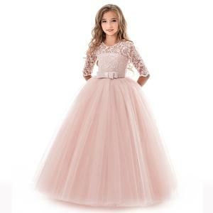 Girl Flower Dress Princess Party Wedding Bridesmaid Kid Formal Gown Long Dresses