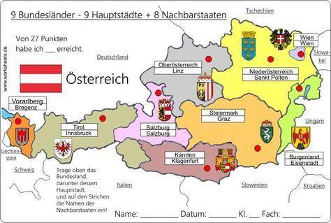 9 Bundeslander Osterreich Austria L Bundesland