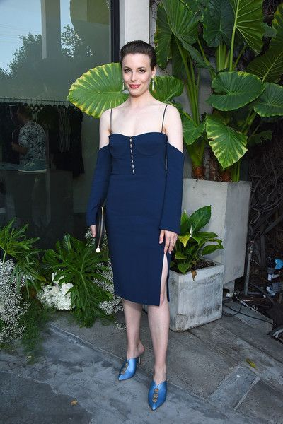 Gillian Jacobs attends the Jonathan Simkhai opening in L.A.