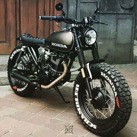 Honda Scrambler, Cafe Racer Honda, Motos Honda, Cafe Racer Bikes, Honda Cb750, Moto Bike, Cafe Racer Motorcycle, Honda Motorcycles, Custom Motorcycles