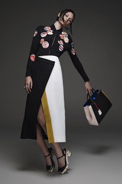 Italian luxury fashion house Fendi presented their new Resort 2015 collection. Creative directors Karl Lagerfeld and Silvia Venturini Fendi gave a modern spin