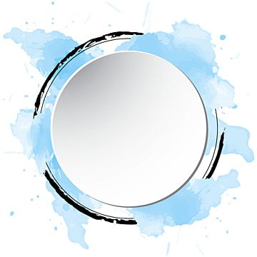 Circle Frame Watercolor Splash Watercolor Frame Vector Png And Vector With Transparent Background For Free Download Frames Design Graphic Watercolor Splash Painting Frames