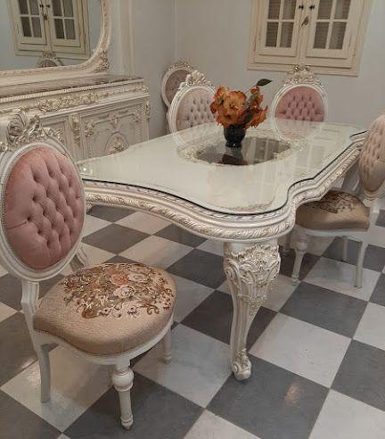 فكره للاثاث المودرن الكلاسيك Classic Dining Room سفرة كلاسيك فخمة شوفنيرة كلاسي Furniture Home Decor Decor
