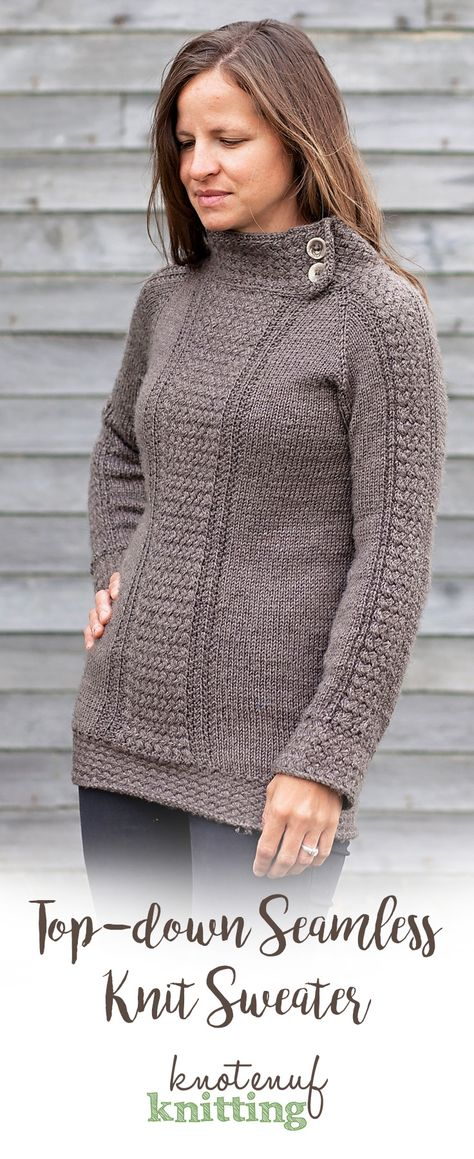28847301403db0 Sweater knitting pattern   Seamless knit sweater pattern   Adult sweater  pattern   Adult cable knit