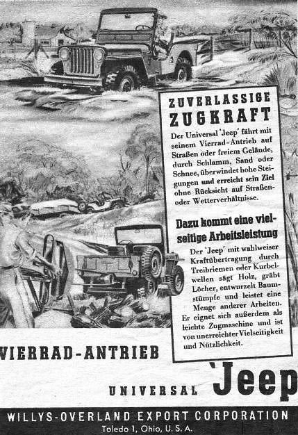 Willys Toledo Usa Jeep Factory Vintage Jeep Factory Advertisements