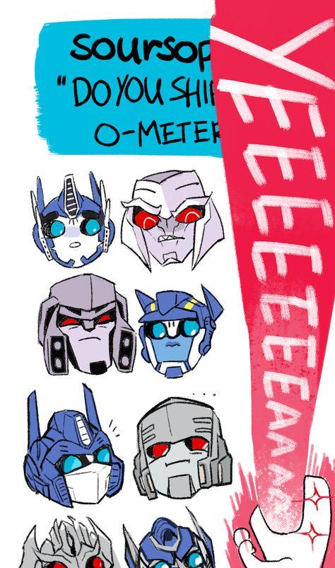 Optimus and Megatron by Soursoppi on tumblr