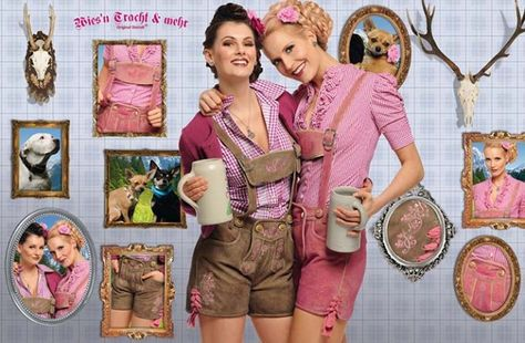 I know that girls aren't supposed to wear Lederhosen but I can't handle how cute these are. They probably make a lot more sense than wearing a dress while drinking bier. IJS.