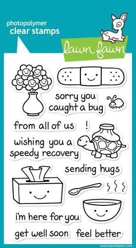 Lawn Fawn Clear Stamps, On the Mend