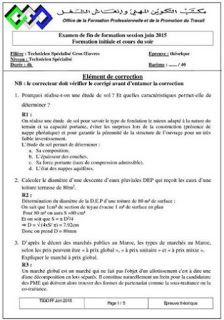 Examen Corrige De Fin De Formation Technicien Gros Oeuvre Ofppt Maroc Genies Autocad Exam