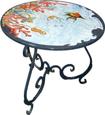 Tavoli Da Giardino Antichi.Tavolo Da Giardino Con Piano In Pietra Lavica Secondo Me E