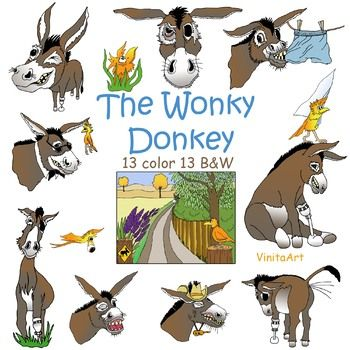 The Wonky Donkey Story Book Inspired Clip Art 13 Black And White