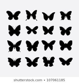 Butterfly Images Stock Photos Vectors Shutterstock Butterflies Vector Silhouette Butterfly Butterfly Illustration
