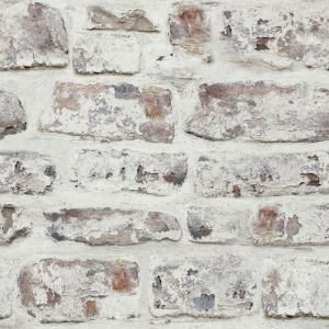 Arthouse Whitewash Wall White Paper Strippable Wallpaper Covers 57 26 Sq Ft 671100 The Home Depot In 2021 Brick Effect Wallpaper Brick Wallpaper Roll White Wash Brick