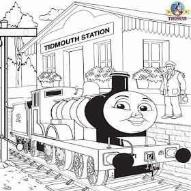 Big Blue Tank Engine Edward And Thomas Train Railway Pictures To Color And Print Activities For Kids Colorful Pictures Colouring Pages Pictures