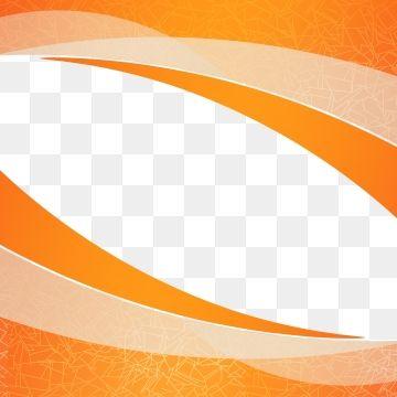 Orange Empty Wavy Shape Design Element Decor For Brochure Flyer Fluid Wave Curve Line Frames Design Graphic Background Design Vector Instagram Template Design