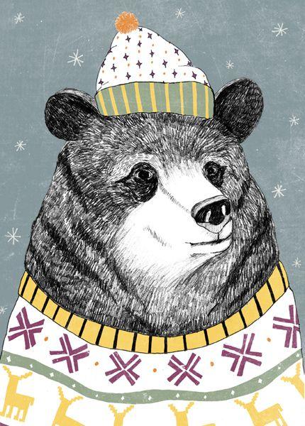 также картинки медведь в шапке этому